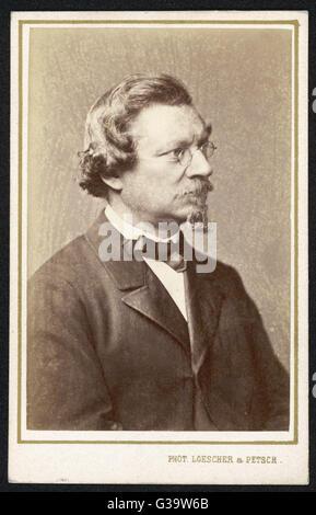 AUGUST WILHELM  VON HOFMANN  German chemist       Date: 1818 - 1892 - Stock Photo