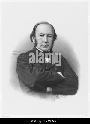 CLAUDE BERNARD  French medical        Date: 1813 - 1878 - Stock Photo