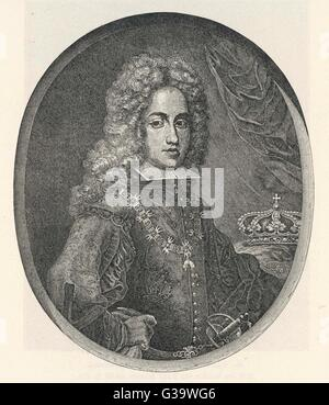 CARLOS III OF SPAIN 5th son of Felipe V Duke of Parma, King of Naples  before becoming king of Spain   in 1759  - Stock Photo
