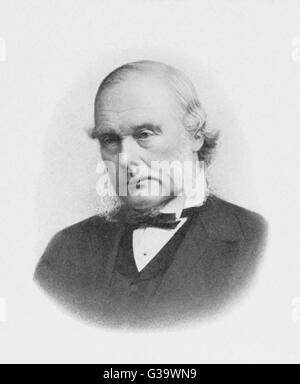 JOSEPH LISTER  English surgeon, medical  scientist and founder of  antiseptic surgery      Date: 1827 - 1912 - Stock Photo