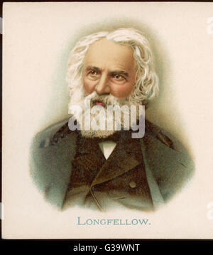 HENRY WADSWORTH LONGFELLOW  American poet, best known for 'The Song of Hiawatha' (1855)      Date: 1807 - 1882 - Stock Photo