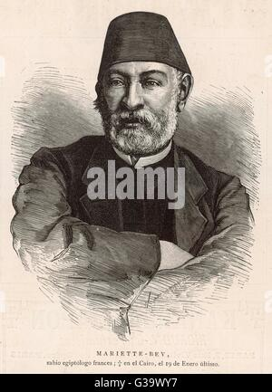 AUGUSTE-FERDINAND-FRANCOIS MARIETTE  French archaeologist and Egyptologist      Date: 1821 - 1881 - Stock Photo
