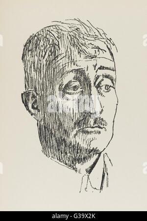 JOHN MASEFIELD  English poet, playwriter  and fiction writer        Date: 1878 - 1967 - Stock Photo