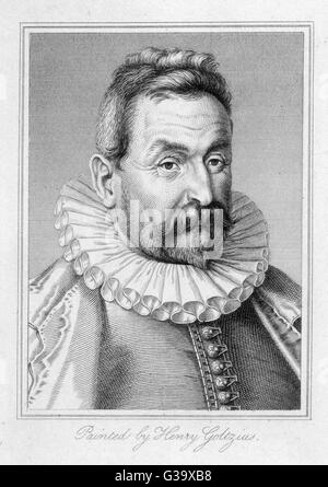 JEAN NICOT  French diplomat and scholar  who introduced tobacco from  Portugal into France      Date: circa 1530 - Stock Photo