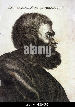 Lucius Annaeus SENECA, 'the Younger')  Roman philosopher and  statesman      Date: 4BC? - 65 AD - Stock Photo