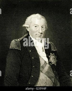 JOHN JERVIS 1st EARL ST VINCENT  Naval officer        Date: 1735 - 1823 - Stock Photo