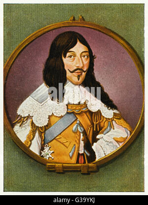 LOUIS XIII, LE JUSTE (JUST)  Eldest son of Henri IV, he  ruled from 1610-1643 and made  France a great power, founding - Stock Photo