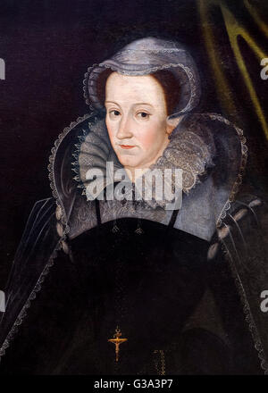 Mary Queen of Scots (1542-1587), portrait by unknown artist, oil on canvas, 1610-15. - Stock Photo