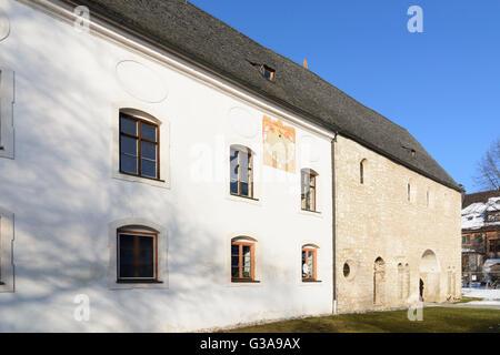 island Fraueninsel in lake Chiemsee, Carolingian gatehouse, Germany, Bayern, Bavaria, Oberbayern, Chiemsee, Upper - Stock Photo