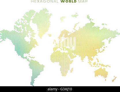 Vector hexagonal world map stock vector art illustration vector vector hexagonal world map stock photo gumiabroncs Gallery