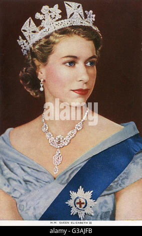 Her Majesty Elizabeth II - Queen of the United Kingdom and other Commonwealth realms (1926-).     Date: 1955 - Stock Photo