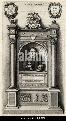 William Aubrey (1529  1595), Welsh Regius Professor of Civil Law at the University of Oxford from 1553 to 1559, - Stock Photo