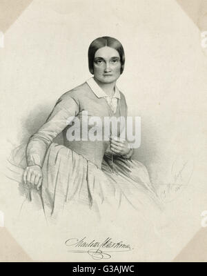 Charlotte Saunders Cushman (1816 - 1876), American stage actress - Stock Photo