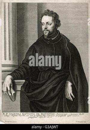 Joannes (Jan) Baptista de Bisthoven, SJ (1603-1655), Jesuit missionary and college rector from Antwerp, Belgium. - Stock Photo
