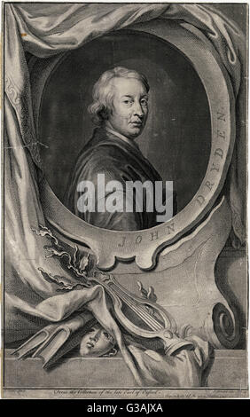 John Dryden (1631 - 1700), English poet and poet Laureate. - Stock Photo