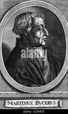 Martin Bucer or Martin Butzer (1491-1551) - German protestant reformer based in Strasbourg.     Date: circa 1540 - Stock Photo