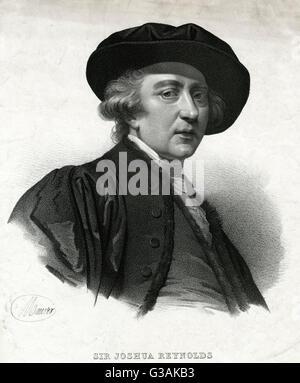 Sir Joshua Reynolds (1723 - 1792), English portrait painter and president of the Royal Academy. - Stock Photo