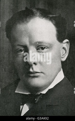 Winston Churchill (1874-1965) - British statesman and former Prime Minister of the United Kingdom.     Date: 1906 - Stock Photo