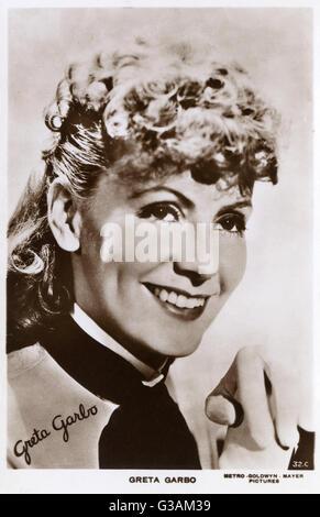 Greta Garbo (1905-1990) -  Swedish-American film actress in MGM's 'Anna Karenina' (1935).     Date: 1935 - Stock Photo