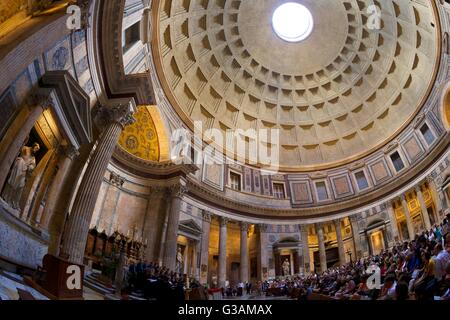 Interior view of choral concert, Pantheon, Rome, Italy - Stock Photo