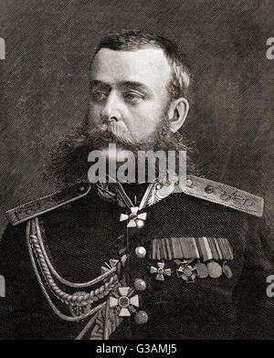 Mikhail Dmitrievich Skobelev,1843 – 1882.  Russian general during the Russo-Turkish War of 1877–1878. - Stock Photo