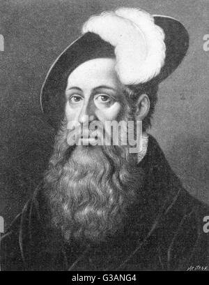 Johann Fust (1400-1466) - German printer. He appears to have been the partner of Johann Gutenberg in promoting the - Stock Photo