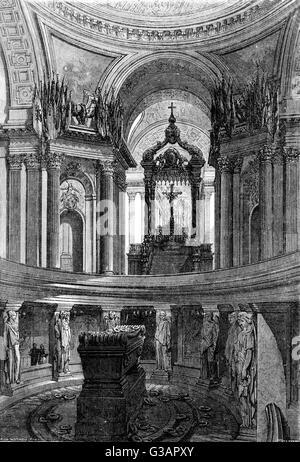 Paris, France - Invalides, Tombeau de Napoleon.     Date: 1854 - Stock Photo