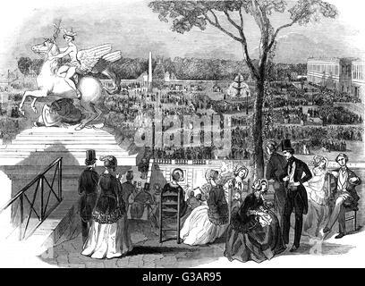 Paris, France - Fetes in Place de la Concorde.     Date: 1846 - Stock Photo