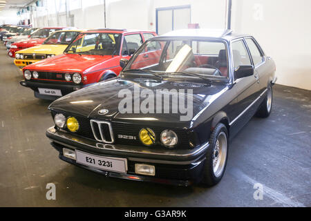 ZAGREB, CROATIA - JUNE 4, 2016 : A BMW E21 323 oldtimer automobile exhibited at Fast and furious street race in - Stock Photo