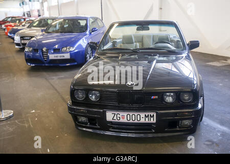 ZAGREB, CROATIA - JUNE 4, 2016 : A BMW M3 cabriolet sports car exhibited at Fast and furious street race in Zagreb, - Stock Photo