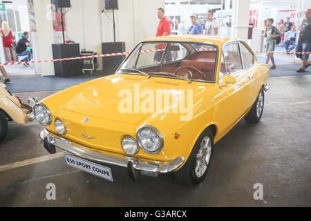 ZAGREB, CROATIA - JUNE 4, 2016 : A Fiat Fiat 850 Sport Coupe exhibited at Fast and furious street race in Zagreb, - Stock Photo