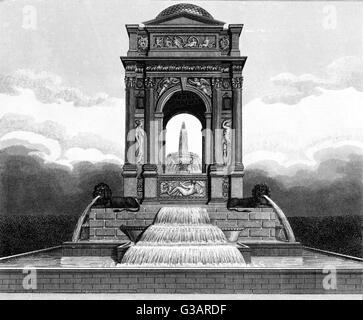 Paris, France - Fontaine des innocents.     Date: 1821 - Stock Photo