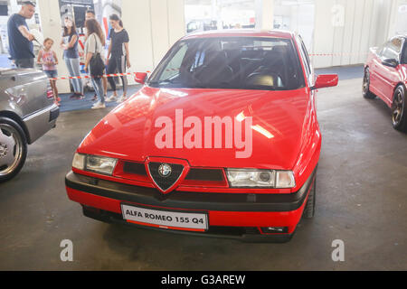 ZAGREB, CROATIA - JUNE 4, 2016 : An Alfa Romeo 155 automobile exhibited at Fast and furious street race in Zagreb, - Stock Photo