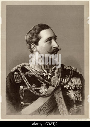 Kaiser Wilhelm II (1859 - 1941) - German Emperor (Kaiser) and King of Prussia, ruling the German Empire and the - Stock Photo
