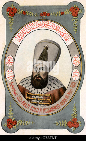 Mehmed III Adli (1566-1603) - Sultan of the Ottoman Empire from 1595 until his death.     Date: circa 1600 - Stock Photo