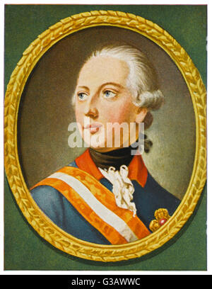 EMPEROR JOSEF II  Holy Roman Emperor (1765-90),  King of Germany (1764-90),  son of Maria Theresia      Date: 1741 - Stock Photo