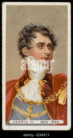 GEORGE IV OF ENGLAND  looking rather dashing        Date: 1762 - 1830 - Stock Photo