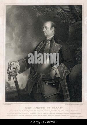 John Manners, marquis of  GRANBY  military commander       Date: 1721 - 1770 - Stock Photo