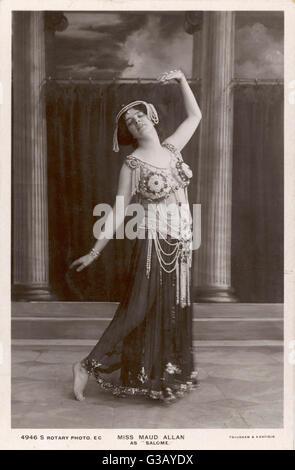 MAUD ALLAN  Actress and dancer, as Salome        Date: 1880 - 1956 - Stock Photo