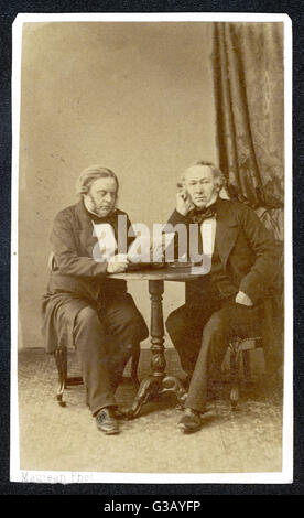 JOHN BRIGHT  English Liberal MP with his friend and  ally Richard Cobden      Date: 1811 - 1889 - Stock Photo
