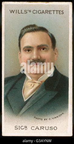 ENRICO CARUSO  Italian opera singer         Date: 1873 - 1921 - Stock Photo