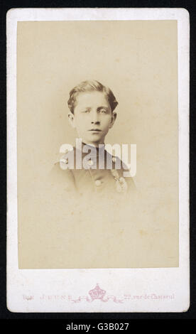 PRINCE LOUIS NAPOLEON 'PRINCE IMPERIAL'  as a young boy       Date: 1856 - 1879 - Stock Photo