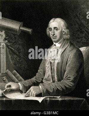 DAVID RITTENHOUSE  American astronomer        Date: 1732 - 1796 - Stock Photo