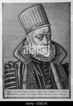 PHILIP II, KING OF SPAIN  reigned 1556-98        Date: 1527 - 1598 - Stock Photo