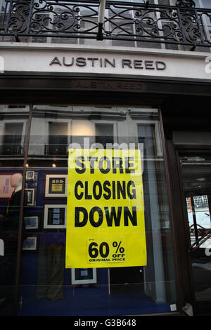 Austin Reed on Regents Street - Stock Photo