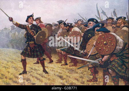 A Jacobite victory at the  Battle of Prestonpans        Date: 21 September 1745 - Stock Photo