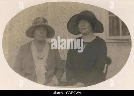 Annie Kenney & Christabel  Pankhurst.         Date: circa 1930 - Stock Photo
