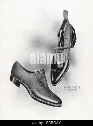 An example of a front lacing  shoe & boot with a contrasting  upper which may be composed of  canvas.       - Stock Photo