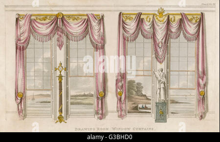 Classical Curtains 2 Drawing Room Window Curtains In The Classical Style With Heavy Dust Attracting Folds