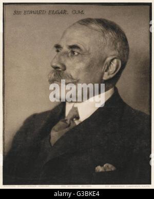 Sir EDWARD ELGAR  British composer        Date: 1857 - 1934 - Stock Photo